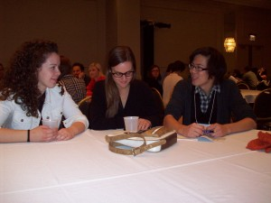 Nora Brand, Emily Dean, and Logan Middleton at NCPTW