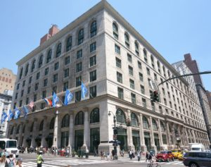 A photo of the exterior of the Graduate Center at the City University of New York, 5th Avenue, New York, NY.