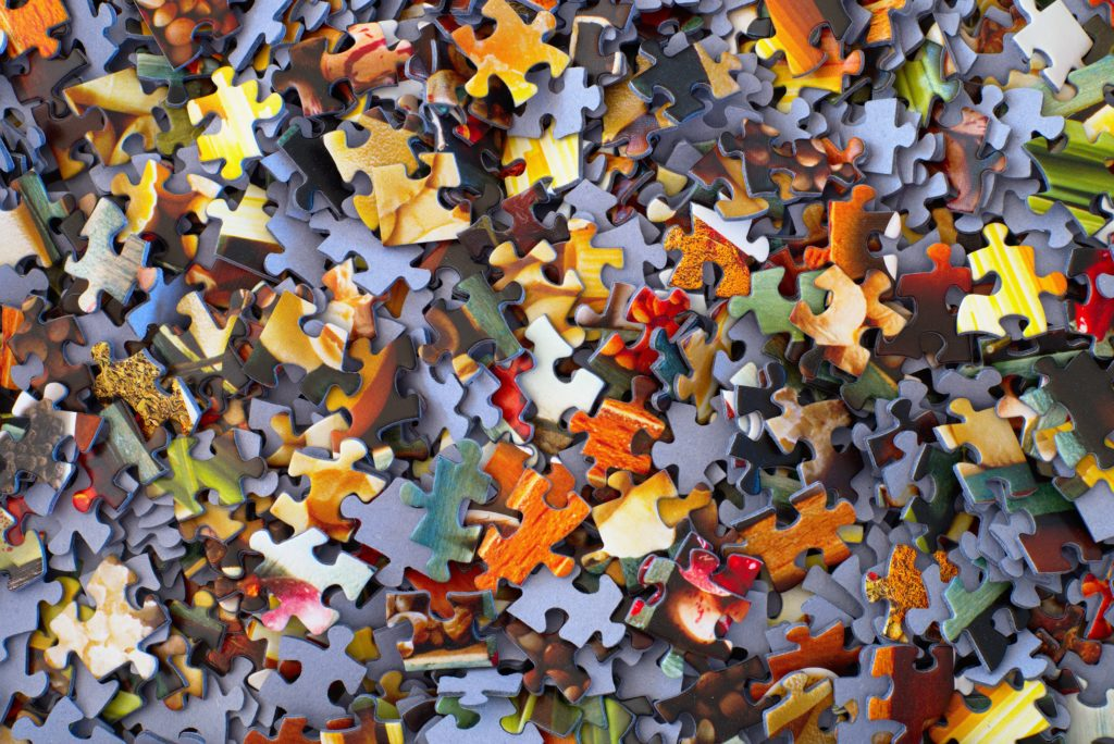 an image of multi-colored puzzle pieces