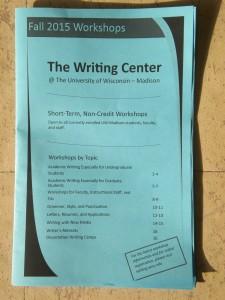 Fall 2015 workshop catalog