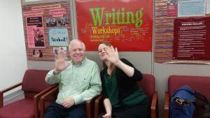 Franziska is happy to meet Brad, UW Writing Center, Madison