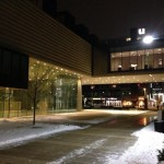 The Chazen Museum of Art by night. The new building opened in 2011.