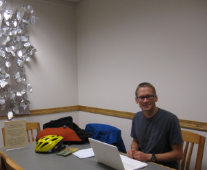 Chris Rogers a UW-Madison doctoral student and instructor in the Madison Writing Assistance Program