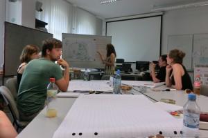 Writing Fellows planning their semester, Writing Center European University Viadrina