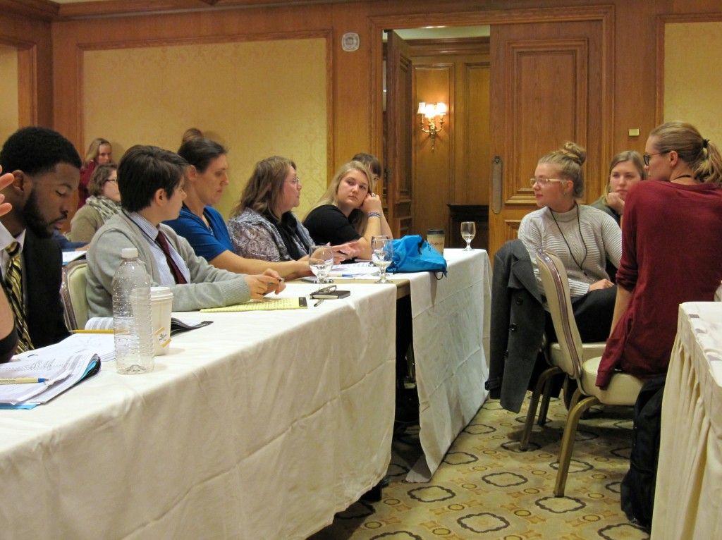 NCPTW attendees discuss presentations during a questions and answer session.