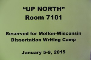 Dissertation camp participants can choose to write in a variety of work spaces