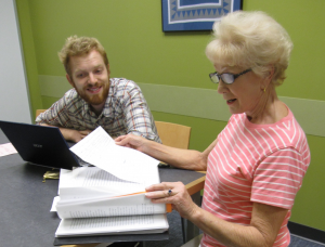 An MWA instructor and a writer hard at work on a memoir.