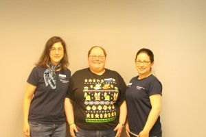 Sara Hilinski, Jill Eisenberg, and Hillary Ornberg, supervisors of the CLAS tutoring staff