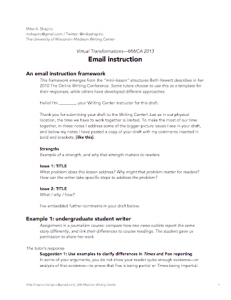 Examples of email tutoring from the UW–Madison Writing Center (PDF)