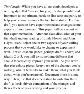 Third Draft of the Writing Process Paper. By now, students are wondering if this project will ever end!