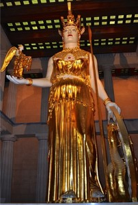 Athena Parthenos of Nashville in all her gilded glory