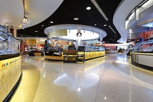 Food service area in the new Dejope Hall.  Photo by Jeff Miller, University Communications.