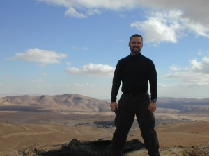 The author in 2008 on a mountain overlooking the small Christian town of Maaloula whose residents take pride in speaking and preserving the biblical Aramaic spoken by Christ.