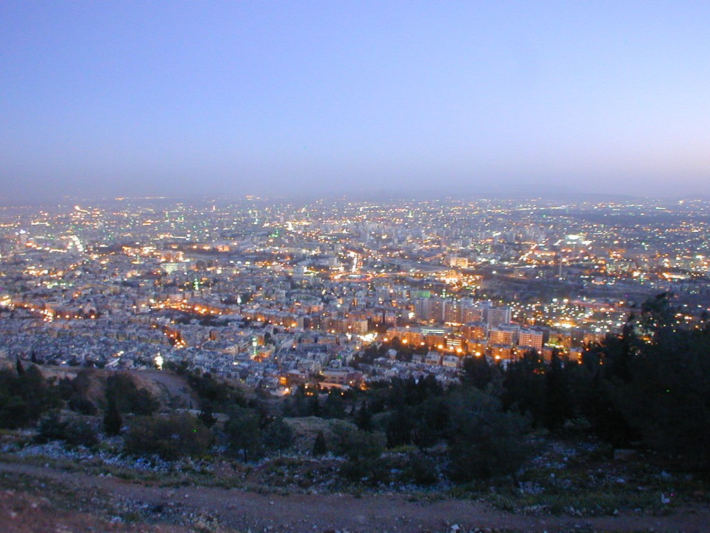 From Jabal Qasiyun overlooking the city of Damascus at sunset. Photo taken by author (2008).