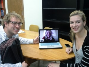 This semester, with one member living away from campus, Skype has kept the group together.