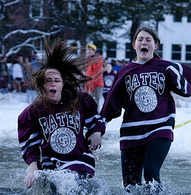 Bates students partake in annual Puddle Jump (Courtesy of Phyllis Graber Jensen/Bates College).