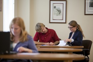 Writers and tutors at the Notre Dame Writing Center, Fall 2012