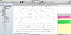 "- Can academic writing be like play? While academic writing cannot be fully disentangled from ""work,"" the path to a finished paper is rarely a straight line. I tend to tinker for hours on Scrivener—color coding, rearranging, and reimagining—before I stumble upon my own ideas."