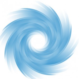 illustration of a blue vortex (public domain image)